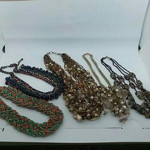 5 piece bulky statement necklace bundle 💜